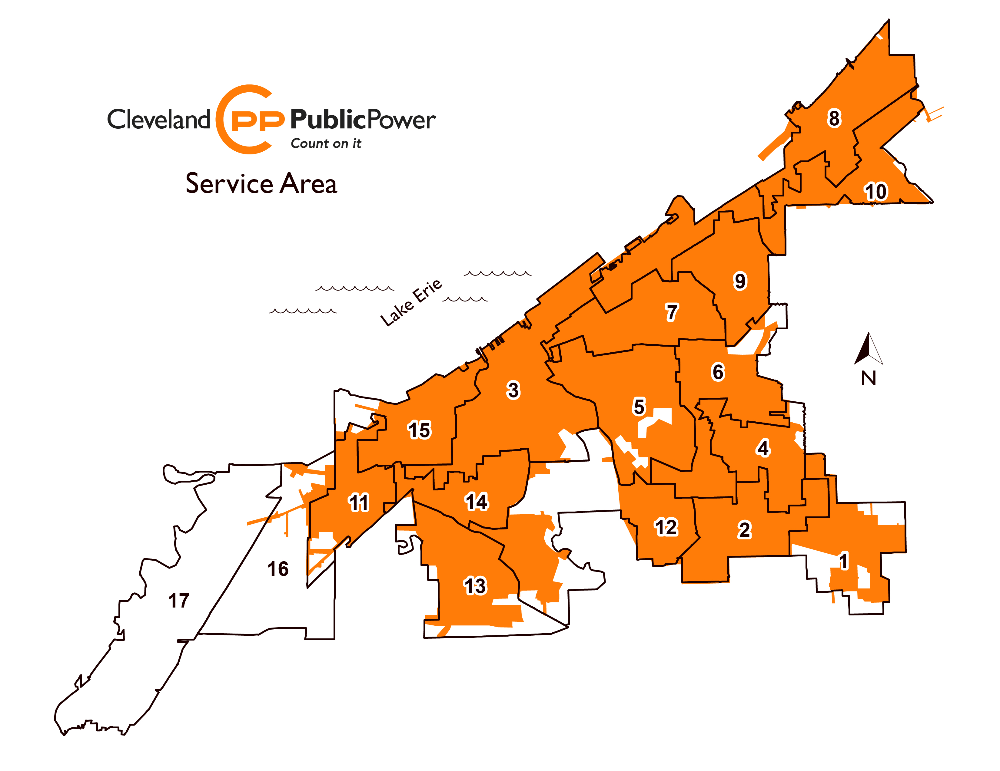 Map of Cleveland Public Power Service Area